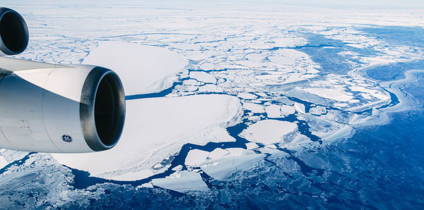 Flight over Antarctica